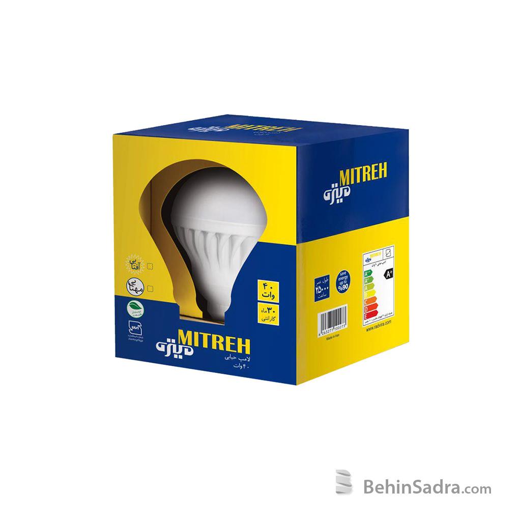 لامپ LED حبابدار 40 وات میتره
